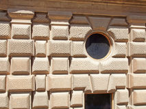 Detail of building in Alhambra Palace Royalty Free Stock Image