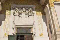 Detail of building in art deco Vienna stock photo