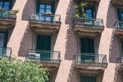Detail of the building, Barcelona Royalty Free Stock Photography