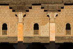 Detail of building in Ben Youssef Madrasa Stock Images