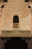 Detail of building in Ben Youssef Madrasa Stock Photography