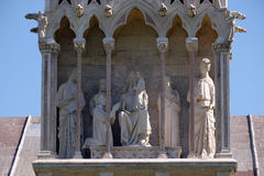 Detail of the building Camposanto Monumentale in Pisa Stock Image