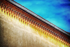 Detail of a building cornice in hdr Royalty Free Stock Photos
