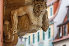 Detail of the building in the historic part of Pirna, Saxony Royalty Free Stock Images