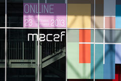 Detail of a building hosting Macef home show in Milan Royalty Free Stock Photo