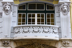Detail of a building located at Lisbon, Portugal Royalty Free Stock Photography