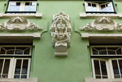 Detail of a building located at Lisbon's Downtown Stock Image