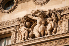 Detail building Louvre in Paris Royalty Free Stock Photo