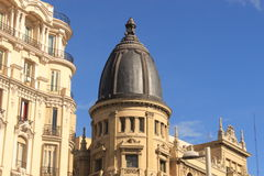 Detail of a building in Madrid. Architecture. Cupola Stock Photos