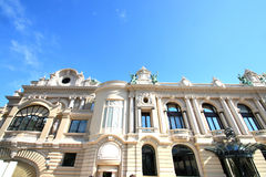 Detail of the building of The Monaco's Casino Royalty Free Stock Image