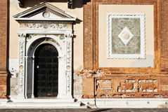 Detail of building in Venice stock image