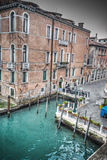Detail of a building in Venice Grand Canal Stock Photos
