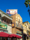 Detail of buildings at Hollywood Studios in Disney California Adventure Park Stock Images
