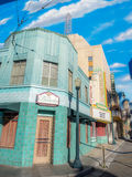 Detail of buildings at Hollywood Studios in Disney California Adventure Park Royalty Free Stock Photo