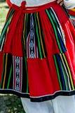 Detail of Bulgarian folk costume for women 2 Stock Photo