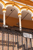 Detail of the bullring in Sevilla Royalty Free Stock Image