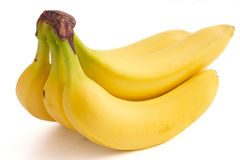 Detail on a bunch of bananas Stock Photo