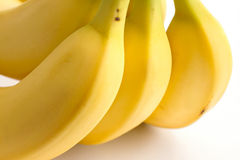 Detail on a bunch of bananas Stock Photos