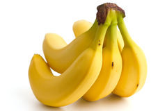 Detail on a bunch of bananas Royalty Free Stock Images