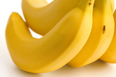 Detail on a bunch of bananas Royalty Free Stock Photos