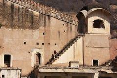 Detail of Bundi Palace wall, India Royalty Free Stock Photo