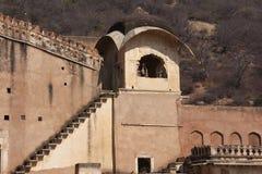 Detail of Bundi Palace wall, India Stock Photography
