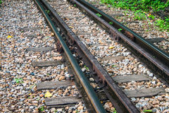 Detail of Burma railway Stock Photography