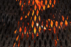Detail Burning Grill Royalty Free Stock Images