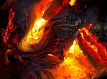 Detail of burning paper Royalty Free Stock Photo