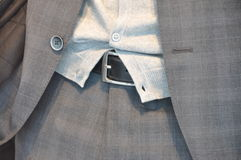 Detail of Business suit. Withjacket belt and trousers Stock Image