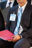 Detail Of Businessman At Conference Royalty Free Stock Photography