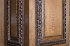 Antique decorative woodworking Royalty Free Stock Image