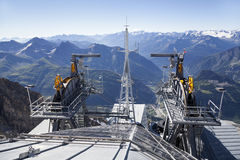 Detail of cable car gear . Courmayeur Valley Royalty Free Stock Photo