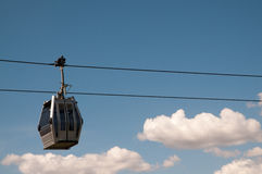 Cable car running Royalty Free Stock Photo