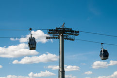 Cable car running Stock Images