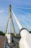 Detail of the cable-stayed bridge Stock Photo