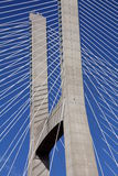 Detail of a cable-stayed bridge Royalty Free Stock Image