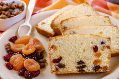 Detail of cake with dried Fruit Royalty Free Stock Photography