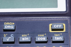 Detail of calculator Stock Images