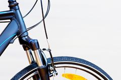 Detail Of Caliper Brakes. And Suspension Fork Stock Image