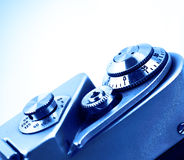 Detail of the camera for the background. Isolated. Royalty Free Stock Images