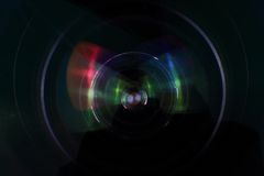 Detail of camera lense. As technology background Royalty Free Stock Photo