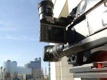 Professional digital video camera royalty free stock image