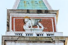 Detail of the Campanile of St. Mark. Venice Stock Images