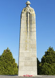Detail of Canadian WW I war memorial in Langemark, Belgium. Royalty Free Stock Image
