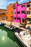 Detail Of Canal In Burano Island Stock Image