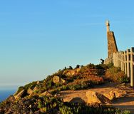 Pointing out the edge of the world - Cape Roca stock images