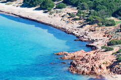 Detail of Capo Coda Cavallo. Sardinia Royalty Free Stock Photo