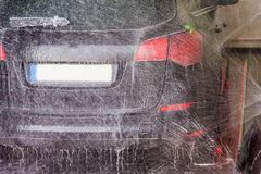 Wash in a car wash stock image