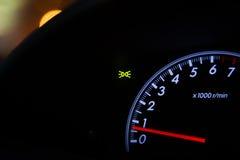 Detail of car dashboard auto Stock Photos